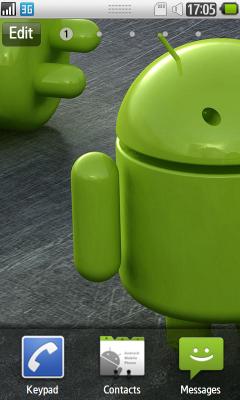 Wave Droid - тема с зеленым человечком