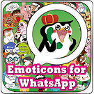 Emoticons for WhatsApp (FREE UPDATE) 썸네일
