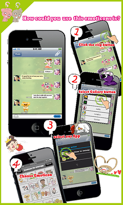 Emoticons for WhatsApp (FREE UPDATE) 스크린샷 2